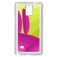 Yellow and pink landscape Samsung Galaxy Note 4 Case (White)
