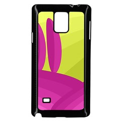 Yellow and pink landscape Samsung Galaxy Note 4 Case (Black)