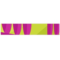 Yellow and pink landscape Flano Scarf (Large)
