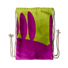 Yellow And Pink Landscape Drawstring Bag (small)
