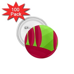 Green and red landscape 1.75  Buttons (100 pack)