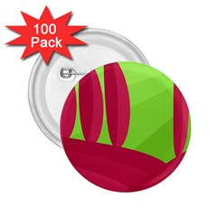 Green and red landscape 2.25  Buttons (100 pack)