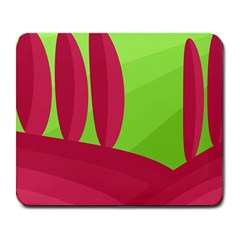 Green and red landscape Large Mousepads