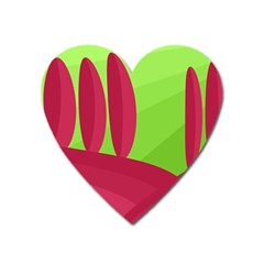 Green and red landscape Heart Magnet