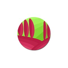 Green and red landscape Golf Ball Marker (10 pack)