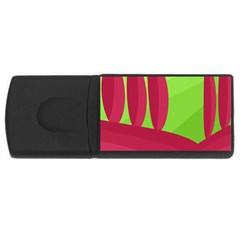 Green and red landscape USB Flash Drive Rectangular (1 GB)