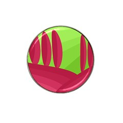 Green and red landscape Hat Clip Ball Marker