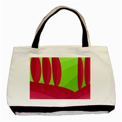 Green and red landscape Basic Tote Bag