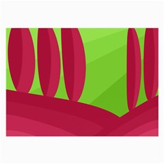 Green and red landscape Large Glasses Cloth (2-Side)