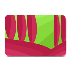 Green and red landscape Plate Mats