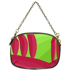 Green and red landscape Chain Purses (One Side)