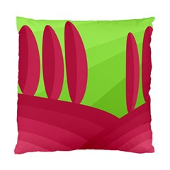 Green and red landscape Standard Cushion Case (One Side)