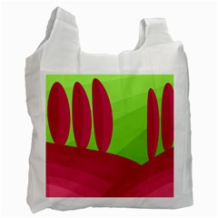 Green and red landscape Recycle Bag (Two Side)