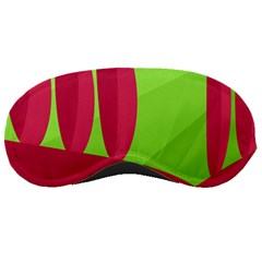 Green and red landscape Sleeping Masks