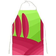 Green and red landscape Full Print Aprons