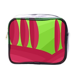 Green and red landscape Mini Toiletries Bags