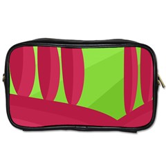 Green and red landscape Toiletries Bags 2-Side