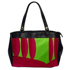 Green and red landscape Office Handbags