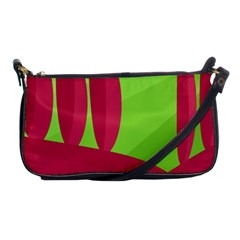 Green and red landscape Shoulder Clutch Bags