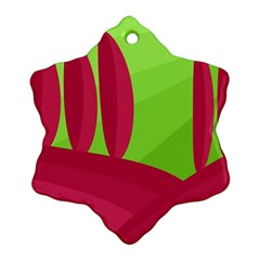 Green and red landscape Ornament (Snowflake)