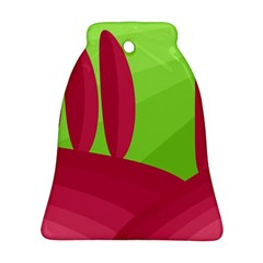 Green and red landscape Ornament (Bell)