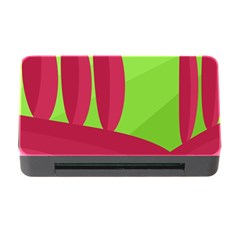 Green and red landscape Memory Card Reader with CF