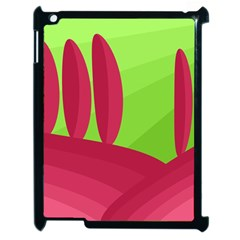 Green and red landscape Apple iPad 2 Case (Black)