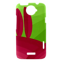 Green and red landscape HTC One X Hardshell Case
