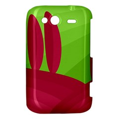 Green and red landscape HTC Wildfire S A510e Hardshell Case