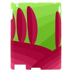 Green and red landscape Apple iPad 2 Hardshell Case