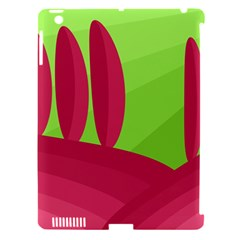 Green and red landscape Apple iPad 3/4 Hardshell Case (Compatible with Smart Cover)
