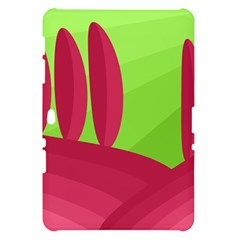 Green and red landscape Samsung Galaxy Tab 10.1  P7500 Hardshell Case
