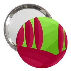 Green and red landscape 3  Handbag Mirrors