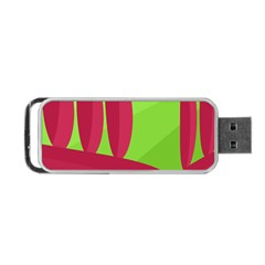 Green and red landscape Portable USB Flash (Two Sides)