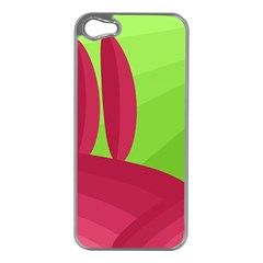 Green and red landscape Apple iPhone 5 Case (Silver)