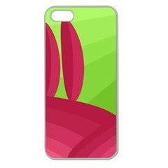 Green and red landscape Apple Seamless iPhone 5 Case (Clear)