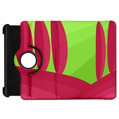 Green and red landscape Kindle Fire HD Flip 360 Case
