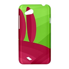 Green and red landscape HTC Desire VC (T328D) Hardshell Case