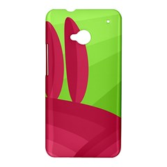 Green and red landscape HTC One M7 Hardshell Case