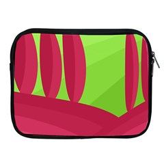 Green and red landscape Apple iPad 2/3/4 Zipper Cases
