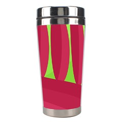 Green and red landscape Stainless Steel Travel Tumblers