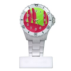 Green and red landscape Plastic Nurses Watch