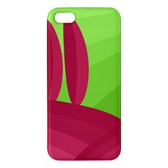 Green and red landscape iPhone 5S/ SE Premium Hardshell Case