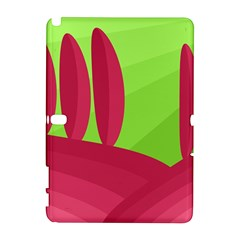 Green and red landscape Samsung Galaxy Note 10.1 (P600) Hardshell Case