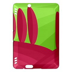 Green and red landscape Kindle Fire HDX Hardshell Case