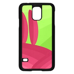 Green and red landscape Samsung Galaxy S5 Case (Black)