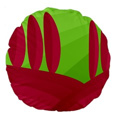 Green and red landscape Large 18  Premium Flano Round Cushions