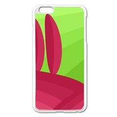 Green and red landscape Apple iPhone 6 Plus/6S Plus Enamel White Case