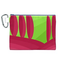 Green and red landscape Canvas Cosmetic Bag (XL)