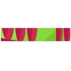 Green and red landscape Flano Scarf (Large)